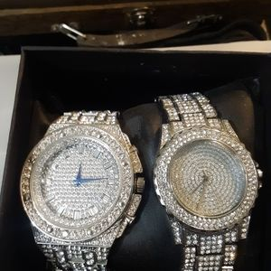 His and hers bling bling watches